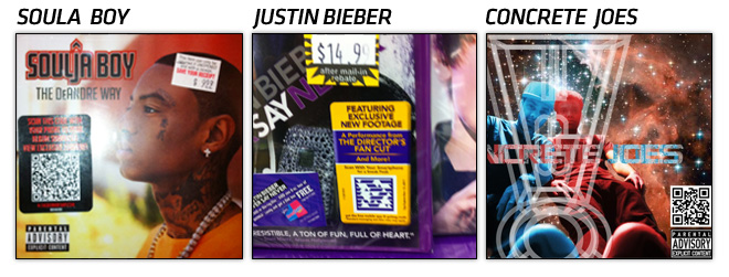 qr2 QR Codes and Album Covers