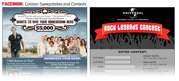 sweeps Custom Sweepstakes and Contests on Facebook