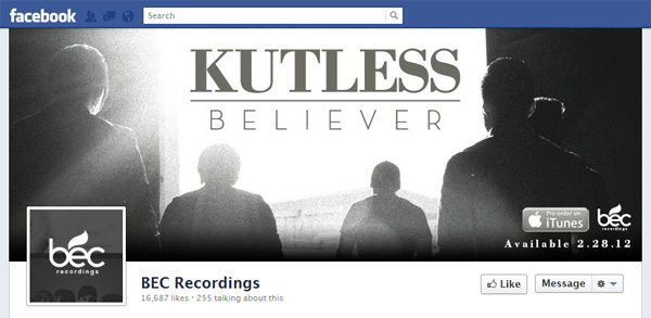 bec New Facebook Pages: Music Industry Examples