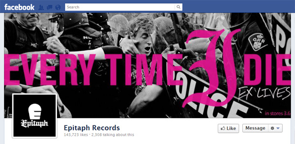 epit New Facebook Pages: Music Industry Examples