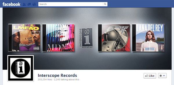 inter1 New Facebook Pages: Music Industry Examples