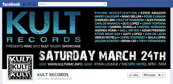 kurl New Facebook Pages: Music Industry Examples