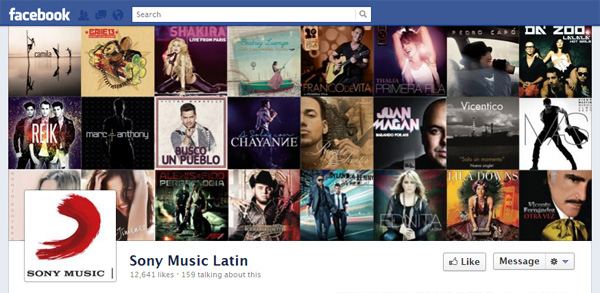 latin New Facebook Pages: Music Industry Examples