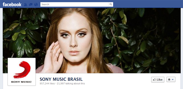 sonybrazil2 New Facebook Pages: Music Industry Examples