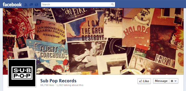 subpop2 New Facebook Pages: Music Industry Examples