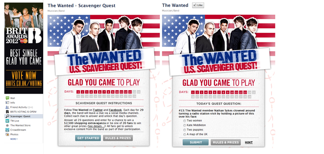 thewanted quest 1 Application Overview: The Wanted Scavenger Hunt