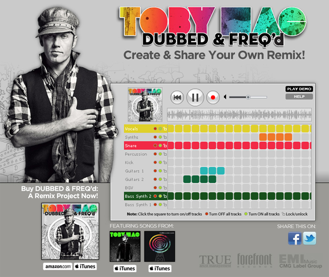 tobymac Create Your Own Remix with the Metablocks Remix Widget
