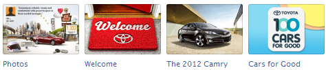 toyota New Facebook Pages: Application Icon Examples