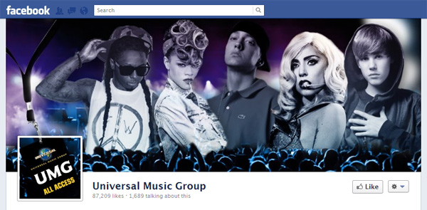 umg1b New Facebook Pages: Music Industry Examples