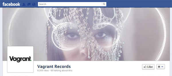 vagrant New Facebook Pages: Music Industry Examples