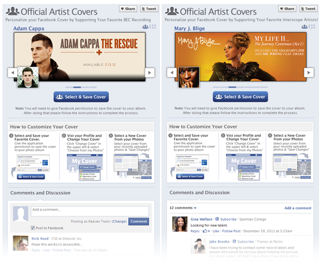 cc1 Facebook Artist Cover Application