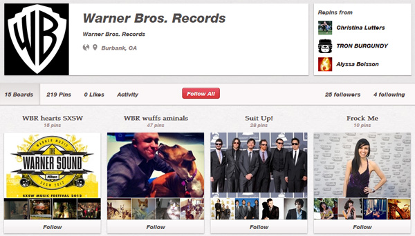 cc3 Music Labels Using Pinterest: Overview