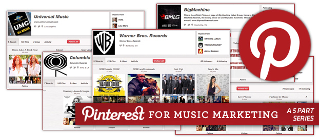 main pinterest2 Music Labels Using Pinterest: Overview