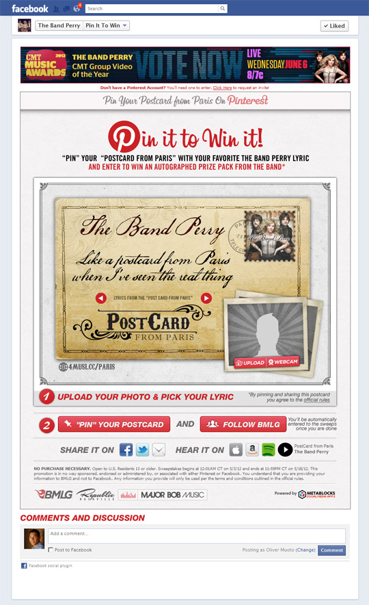 ss2 The Band Perry Pinterest Application In Action