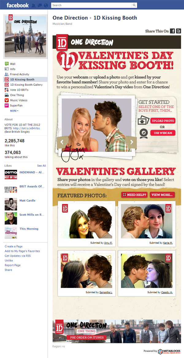 600 1d kissing booth Application Spotlight: One Direction Valentines Day Kissing Booth