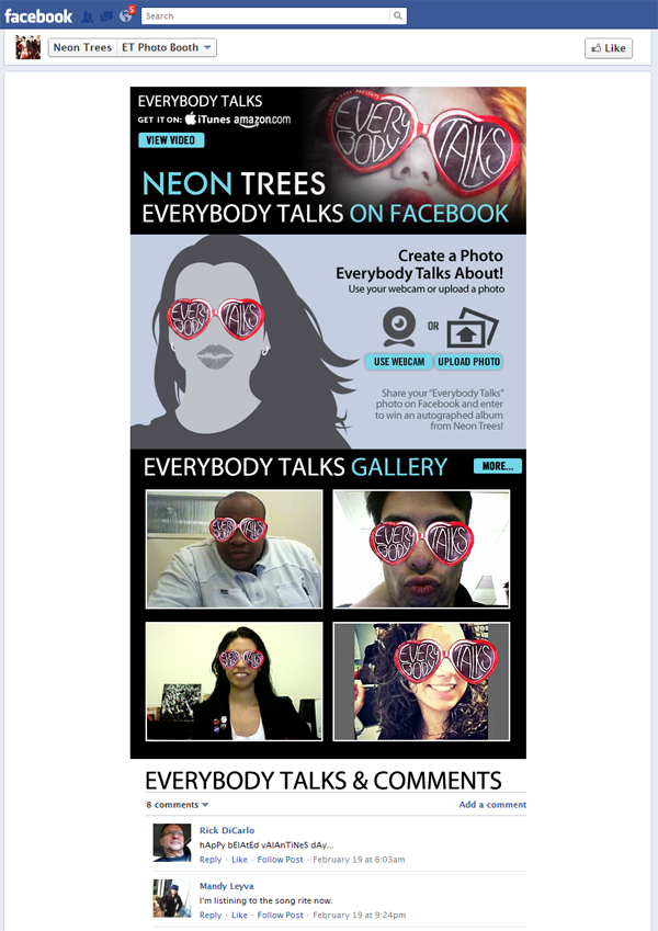 neontrees Application Spotlight: Neon Trees   Everybody Talks on Facebook