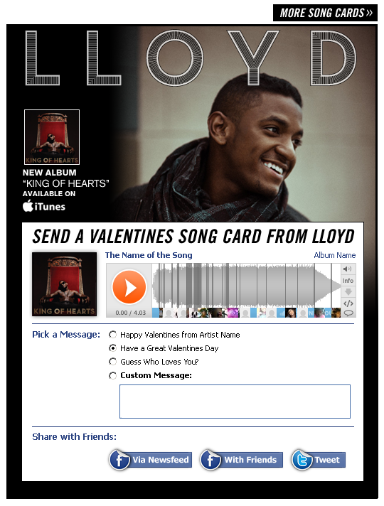 Lloyd Song Card Interscope Valentines E Card Examples