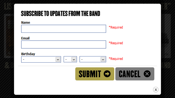 abr step2a Application Spotlight: August Burns Red Subscribe to Download Widget