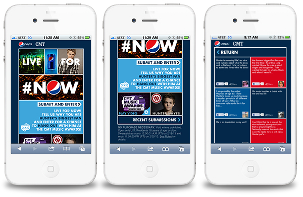 pepsimobile Application Spotlight: Pepsi + Hunter Hayes + CMT