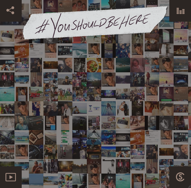 mosaic grid with instagram content