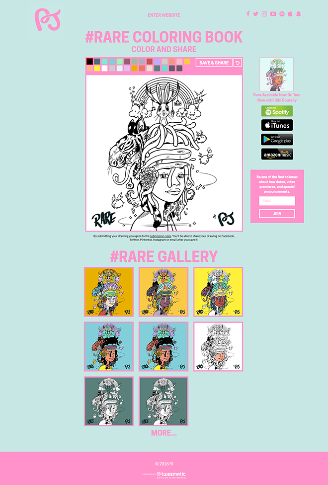 Fans Can Create Their Custom Drawings Online And Then Share Them On Social Media Or Via Text Email With Friends Users Pick From A Palette Of Colors