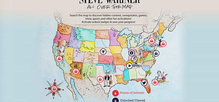 Steve Wariner – #AllOverTheMap Interactive Map