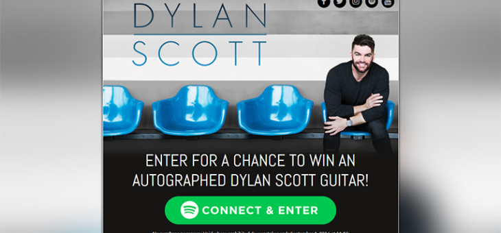 Dylan Scott Spotify Sweeps  Copy