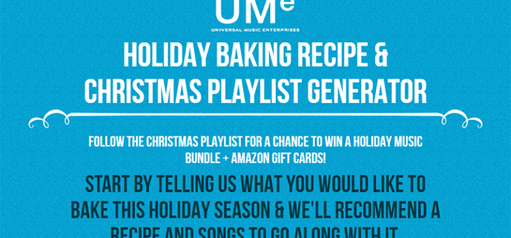 UMe Christmas Recipes Sweepstakes
