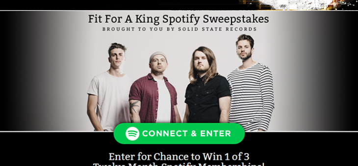 Solid State Records Spotify Sweepstakes Platform