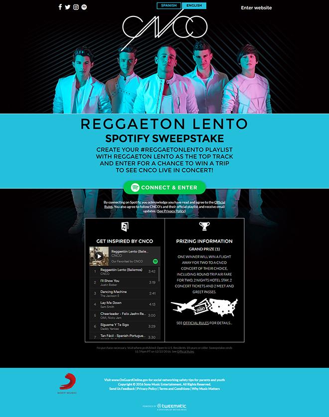 CNCO #ReggaetonLento Spotify Sweeps – Metablocks