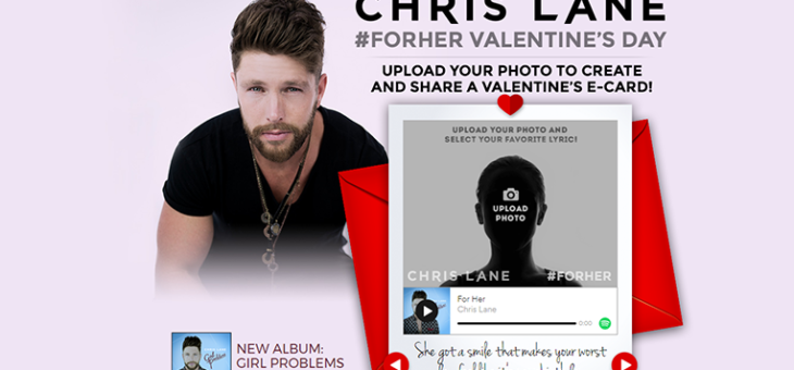Chris Lane Valentine's Day Card