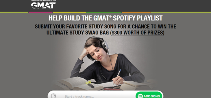 Protected: GMAT Spotify Playlist Sweepstakes