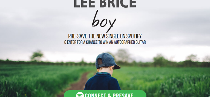 Lee Brice Pre-save to Spotify