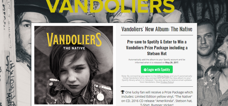 Vandoliers Pre-Save for Spotify