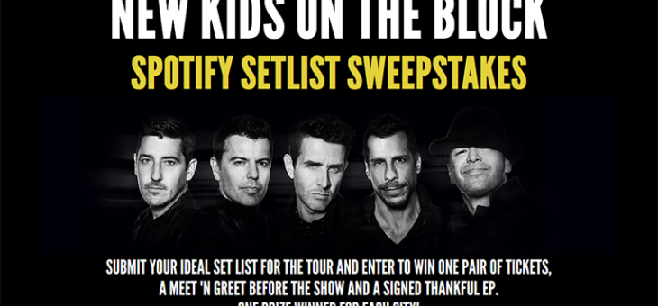 New Kids On The Block Spotify Sweeps