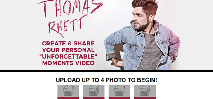 Thomas Rhett Unforgettable Video App