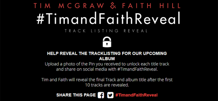 Tim McGraw and Faith Hill Track Unlock
