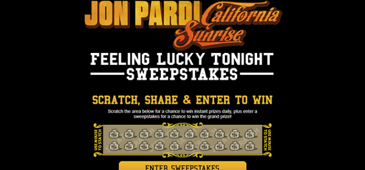 Jon Pardi Lucky Sweepstakes