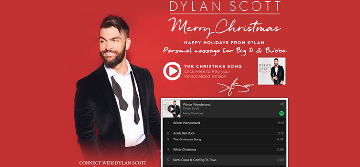 Dylan Scott Merry Christmas Card