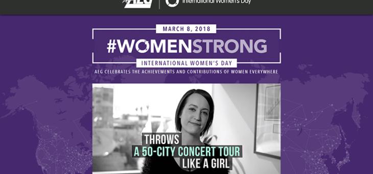 AEG #WomenStrong