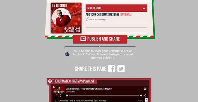 Jim Brickman Christmas E-Card