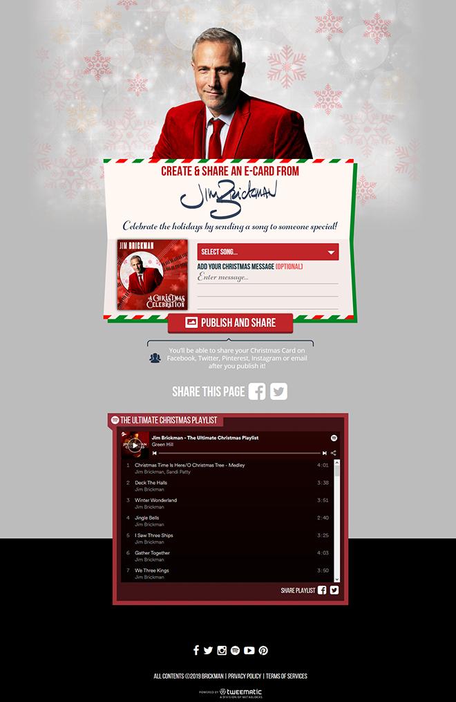 Jim Brickman Christmas E-Card – Metablocks