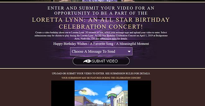 Loretta Lynn Birthday Video Submission Campaign