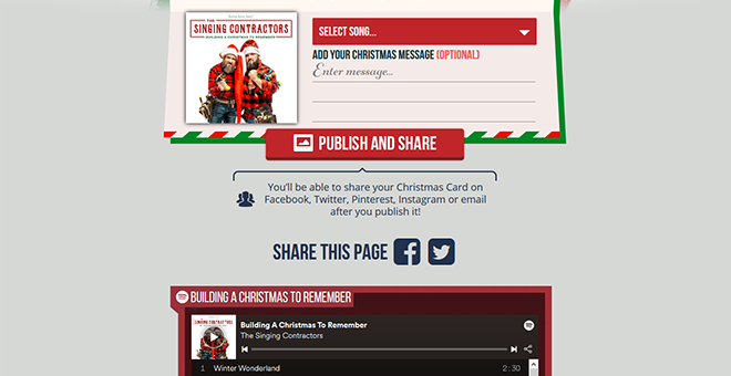 Singing Contractors Christmas E-Card