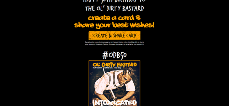 Ol Dirty Bastard Birthday Card Generator