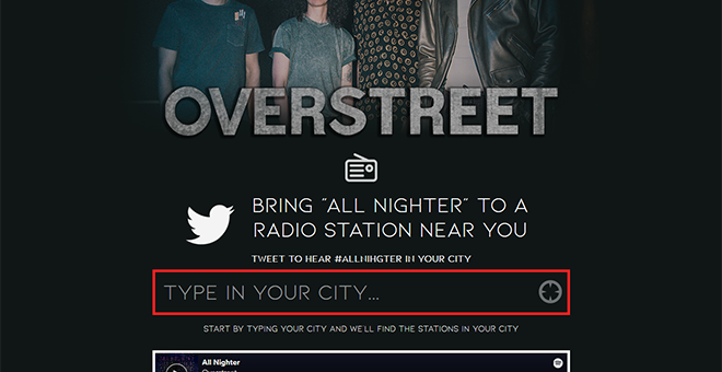Overstreet 'All Nighter' Radio Request Campaign