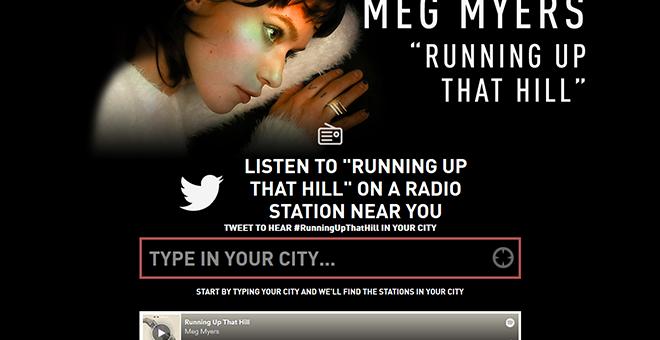 Meg Myers Radio Request Campaign