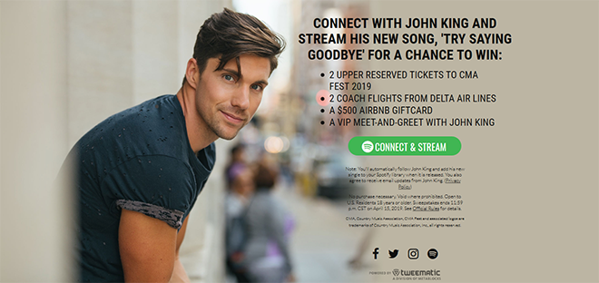 "John King ""Stream to Win"" Spotify Campaign"