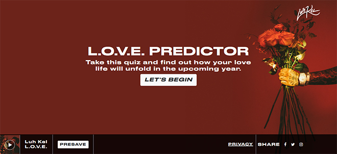 Luh Kel – L.O.V.E. Predictor